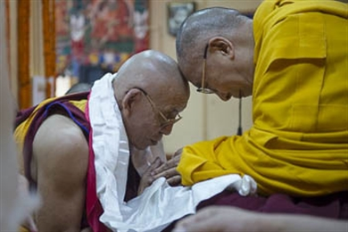 His Holiness the Dalai Lama is Offered a Long-life Ceremony