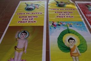 Thái Bình: Công tác chuẩn bị Phật đản tại chùa Từ Xuyên