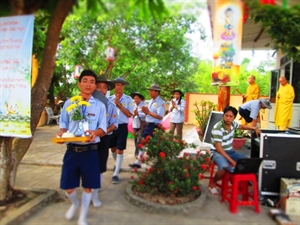 GĐPT Đại Lộc Khai mạc Hội trại mừng Phật đản
