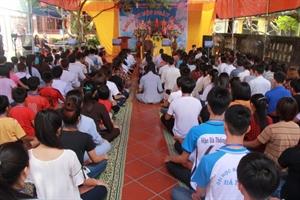 Thái Bình: Chùa Trùng Quang tổ chức khóa tu một ngày