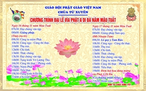 Thái Bình: Thông báo Đại lễ vía Phật Di Đà tại chùa Từ Xuyên