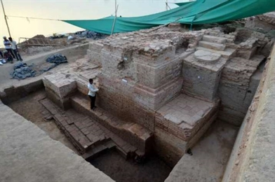 Buddha Head Found amid New Excavation Efforts in Gujarat, India