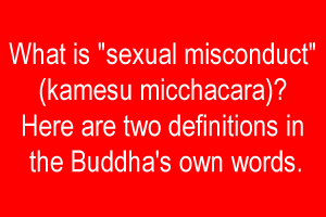 Sutra buddhism definition of sexual misconduct
