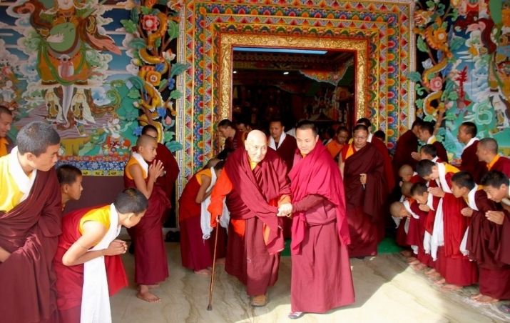 Image result for yangthang rinpoche and dalai lama rinpoche
